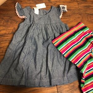 Baby Gap and other Bundle Top/ Dress and leggings